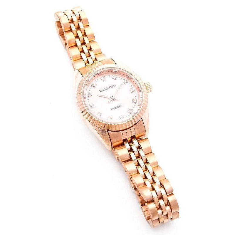 Watches - Valentino RLX 3H CLASSIC IP ROSE L WOMEN  STAINLESS BAND Strap Watch 20121569-ROSE - ROSE STONE