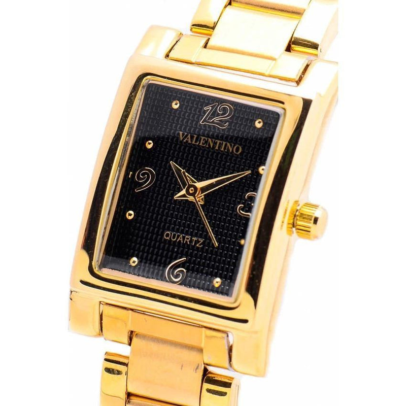 Watches - Valentino SHEEN IP GOLD STYLE WOMEN  STAINLESS BAND Strap Watch 20121782-GOLD - BLACK NUMBER