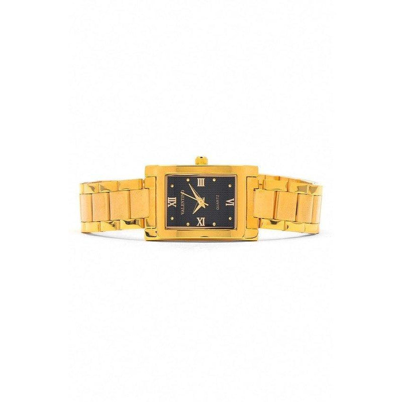 Watches - Valentino SHEEN IP GOLD STYLE WOMEN  STAINLESS BAND Strap Watch 20121782-GOLD - BLACK ROMAN