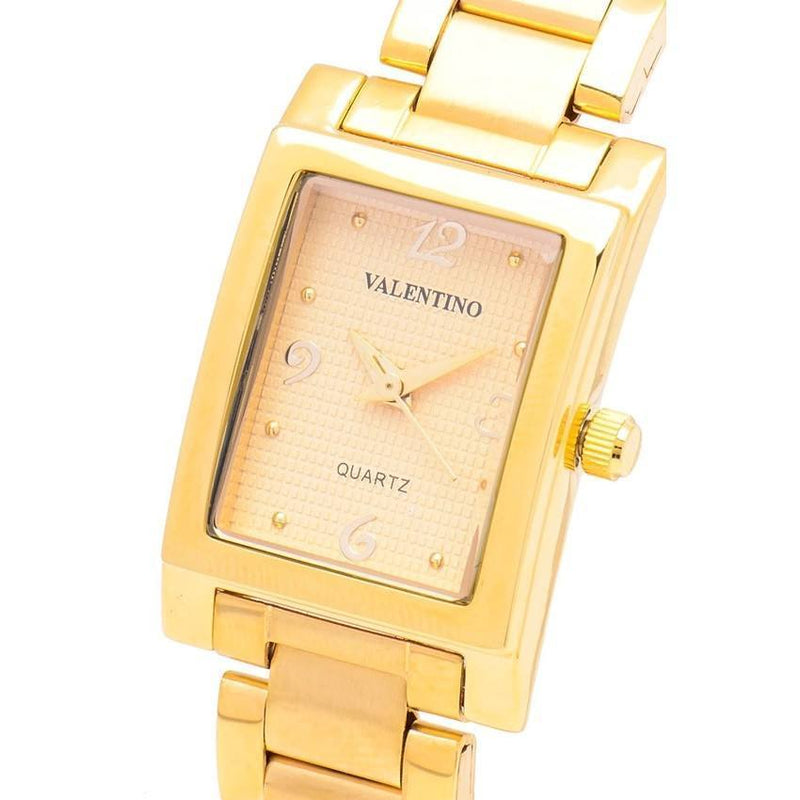 Watches - Valentino SHEEN IP GOLD STYLE WOMEN  STAINLESS BAND Strap Watch 20121782-GOLD - GOLD NUMBER