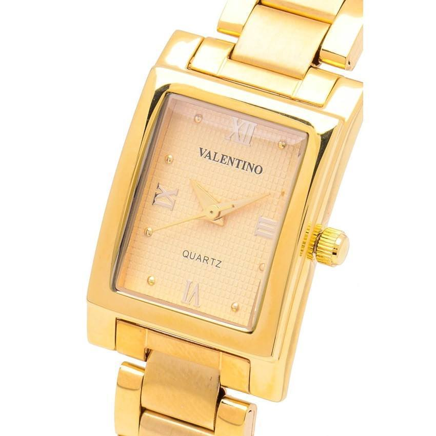 Watches - Valentino SHEEN IP GOLD STYLE WOMEN  STAINLESS BAND Strap Watch 20121782-GOLD - GOLD ROMAN