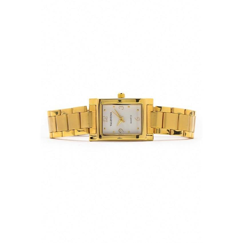 Watches - Valentino SHEEN IP GOLD STYLE WOMEN  STAINLESS BAND Strap Watch 20121782-GOLD - WHITE NUMBER