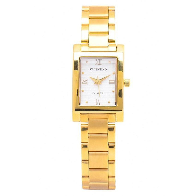 Watches - Valentino SHEEN IP GOLD STYLE WOMEN  STAINLESS BAND Strap Watch 20121782-GOLD - WHITE ROMAN