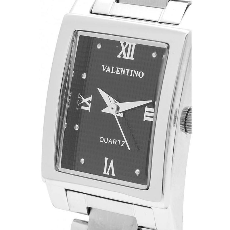 Watches - Valentino SHEEN IP WHITE STYLE WOMEN  STAINLESS BAND Strap Watch 20121783-SILVER - BLACK ROMAN