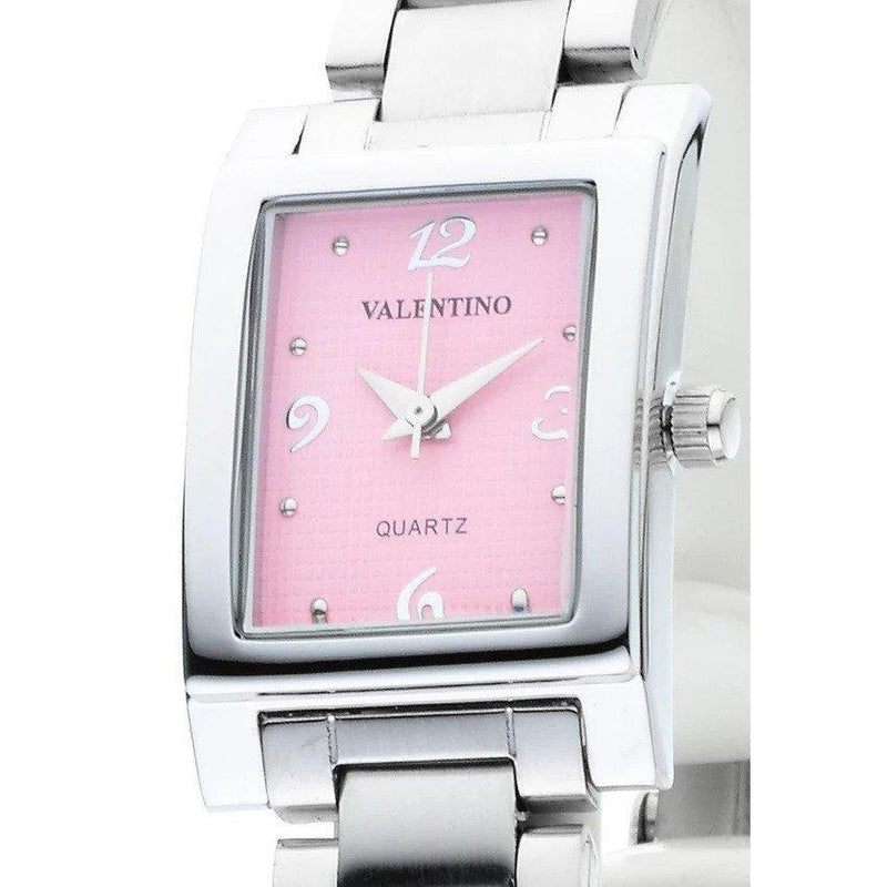 Watches - Valentino SHEEN IP WHITE STYLE WOMEN  STAINLESS BAND Strap Watch 20121783-SILVER - PINK NUMBER