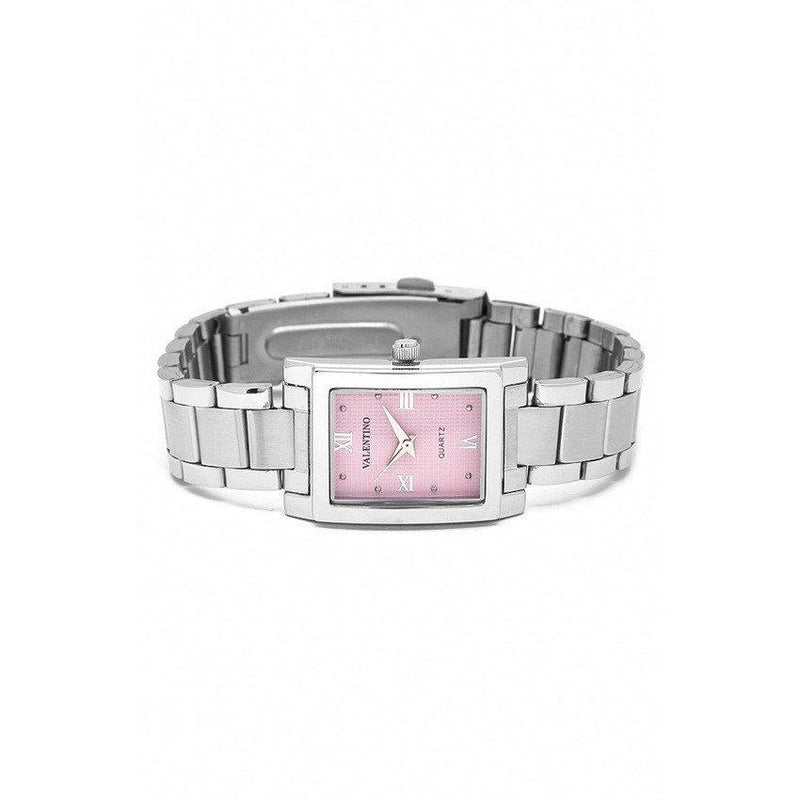 Watches - Valentino SHEEN IP WHITE STYLE WOMEN  STAINLESS BAND Strap Watch 20121783-SILVER - PINK ROMAN