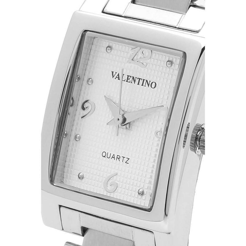 Watches - Valentino SHEEN IP WHITE STYLE WOMEN  STAINLESS BAND Strap Watch 20121783-SILVER - WHITE NUMBER
