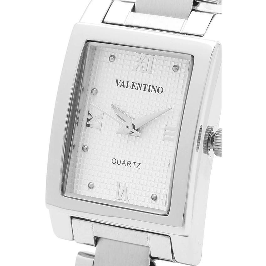 Watches - Valentino SHEEN IP WHITE STYLE WOMEN  STAINLESS BAND Strap Watch 20121783-SILVER - WHITE ROMAN