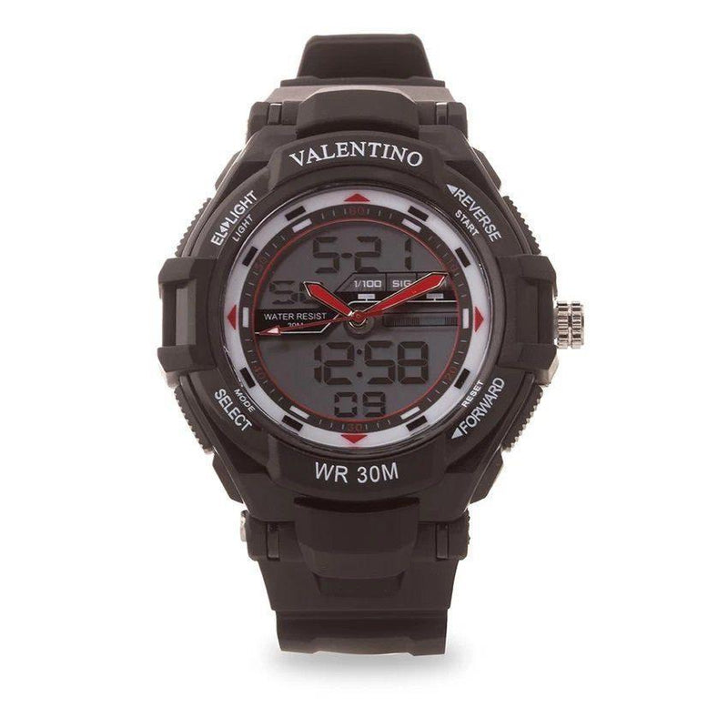 Watches - Valentino SPORTS DIGI ANA G MEN  RUBBER STRAP Strap Watch 20121208-BLACK