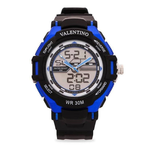 Watches - Valentino SPORTS DIGI ANA G MEN  RUBBER STRAP Strap Watch 20121208-BLUE