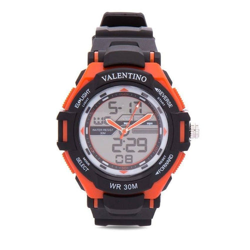 Watches - Valentino SPORTS DIGI ANA G MEN  RUBBER STRAP Strap Watch 20121208-ORANGE