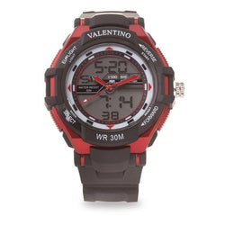 Watches - Valentino SPORTS DIGI ANA G MEN  RUBBER STRAP Strap Watch 20121208-RED