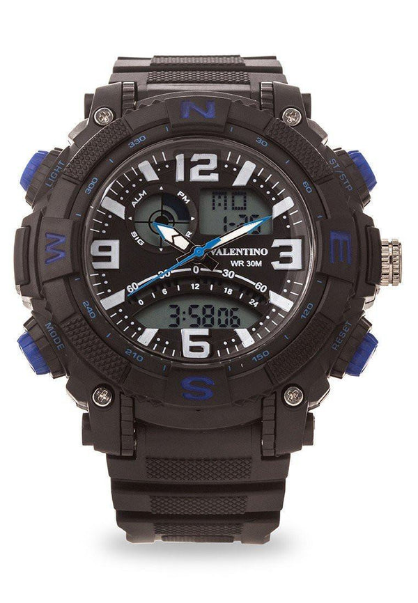 Watches - Valentino SPYDER DIGI ANA STYLE MEN  RUBBER STRAP Strap Watch 20121889-BLUE NESW