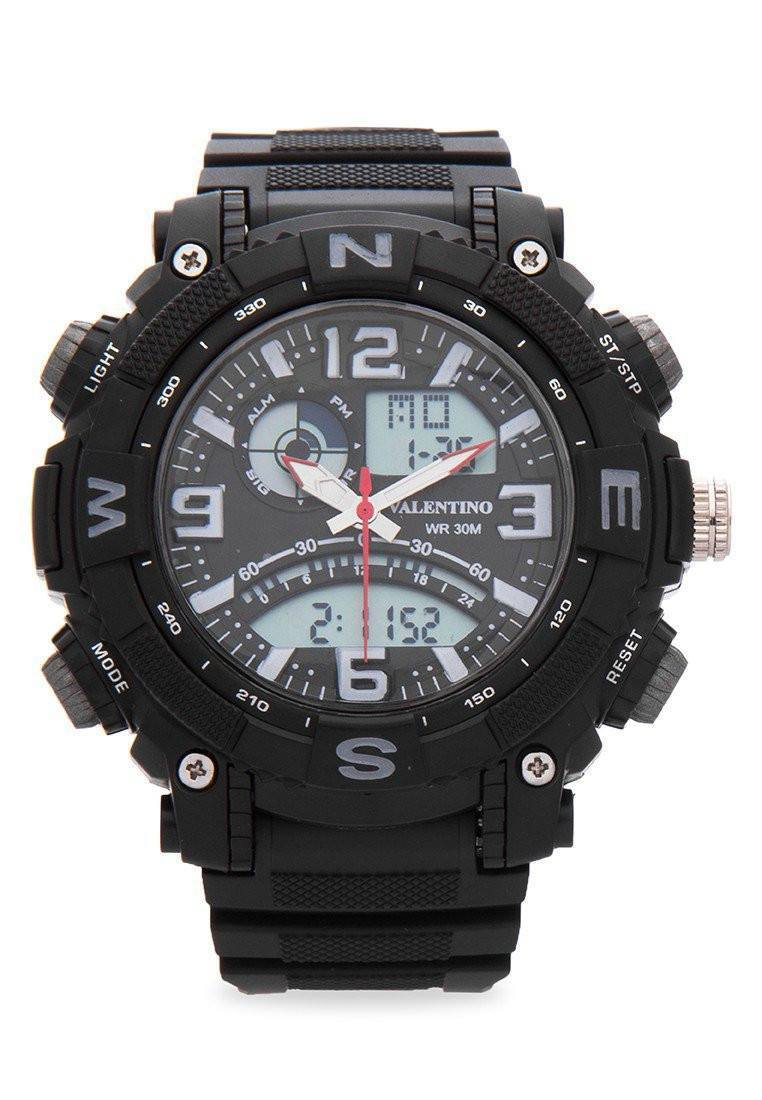 Watches - Valentino SPYDER DIGI ANA STYLE MEN  RUBBER STRAP Strap Watch 20121889-GRAY NESW
