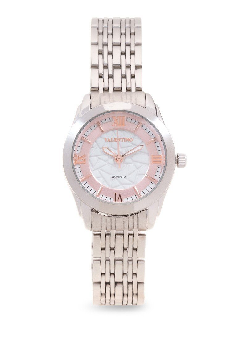 Watches - Valentino STA BARBARA MTL L WOMEN  STAINLESS BAND Strap Watch 20121914-ROSE DIAL