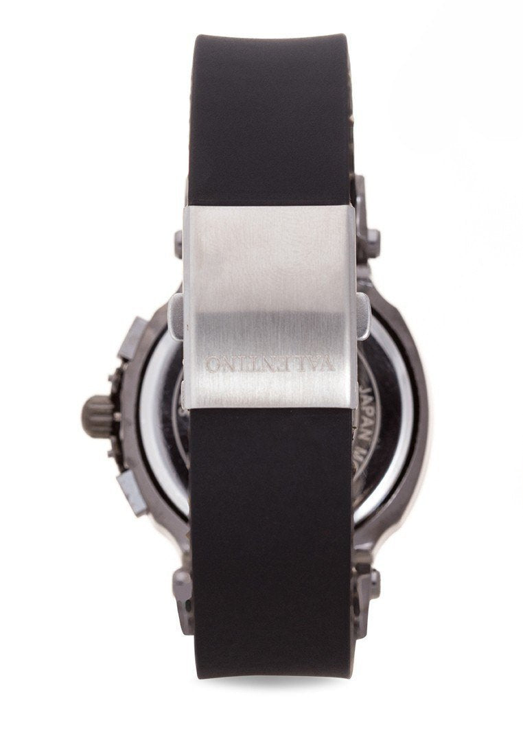 Watches - Valentino TISSOT RUBBER STYLE MEN  RUBBER STRAP Strap Watch 20121910-BLK - WHITE DIAL