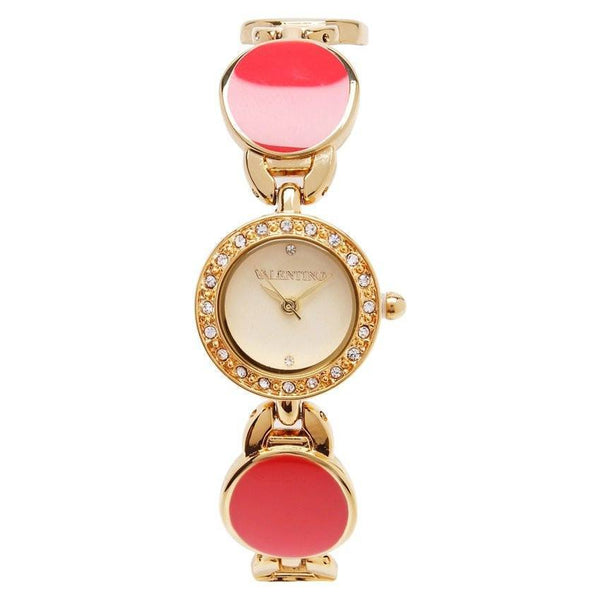 Watches - Valentino TORTOISE LUXE IP WOMEN  FASHION METAL - ALLOY Strap Watch 20121823-GOLD - RED STONE