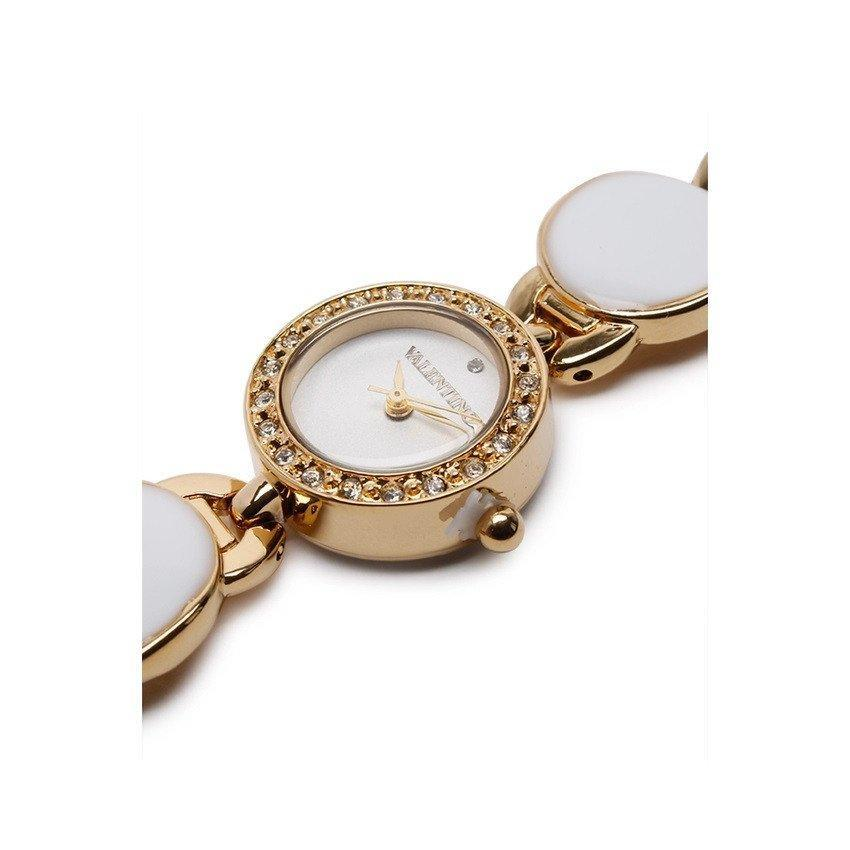 Watches - Valentino TORTOISE LUXE IP WOMEN  FASHION METAL - ALLOY Strap Watch 20121823-GOLD - WHITE STONE