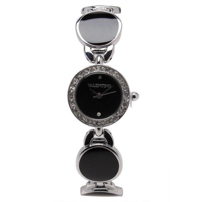 Watches - Valentino TORTOISE LUXE IP WOMEN  FASHION METAL - ALLOY Strap Watch 20121823-SILVER - BLACK STONE