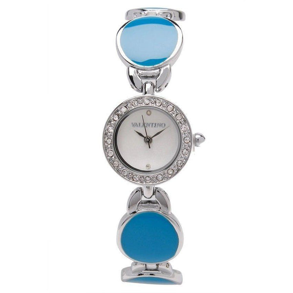 Watches - Valentino TORTOISE LUXE IP WOMEN  FASHION METAL - ALLOY Strap Watch 20121823-SILVER - BLUE STONE