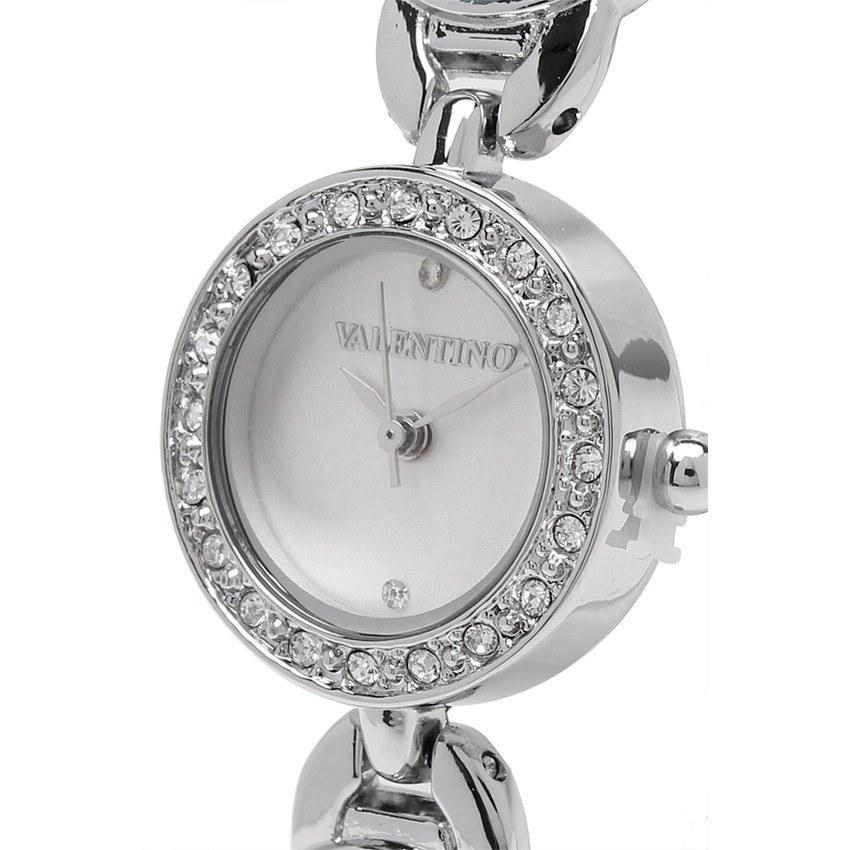 Watches - Valentino TORTOISE LUXE IP WOMEN  FASHION METAL - ALLOY Strap Watch 20121823-SILVER - WHITE STONE