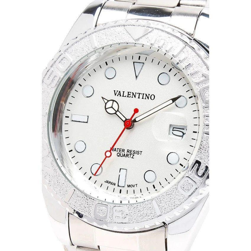 Watches - Valentino Y-MASTER IP WHITE STYLE G MEN  STAINLESS BAND Strap Watch 20121587-SILVER - SILVER DIAL