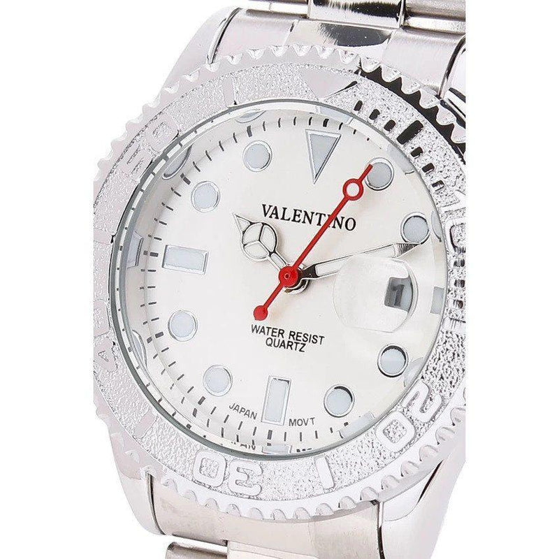Watches - Valentino Y-MASTER IP WHITE STYLE L WOMEN  STAINLESS BAND Strap Watch 20121588-SILVER - SILVER DIAL