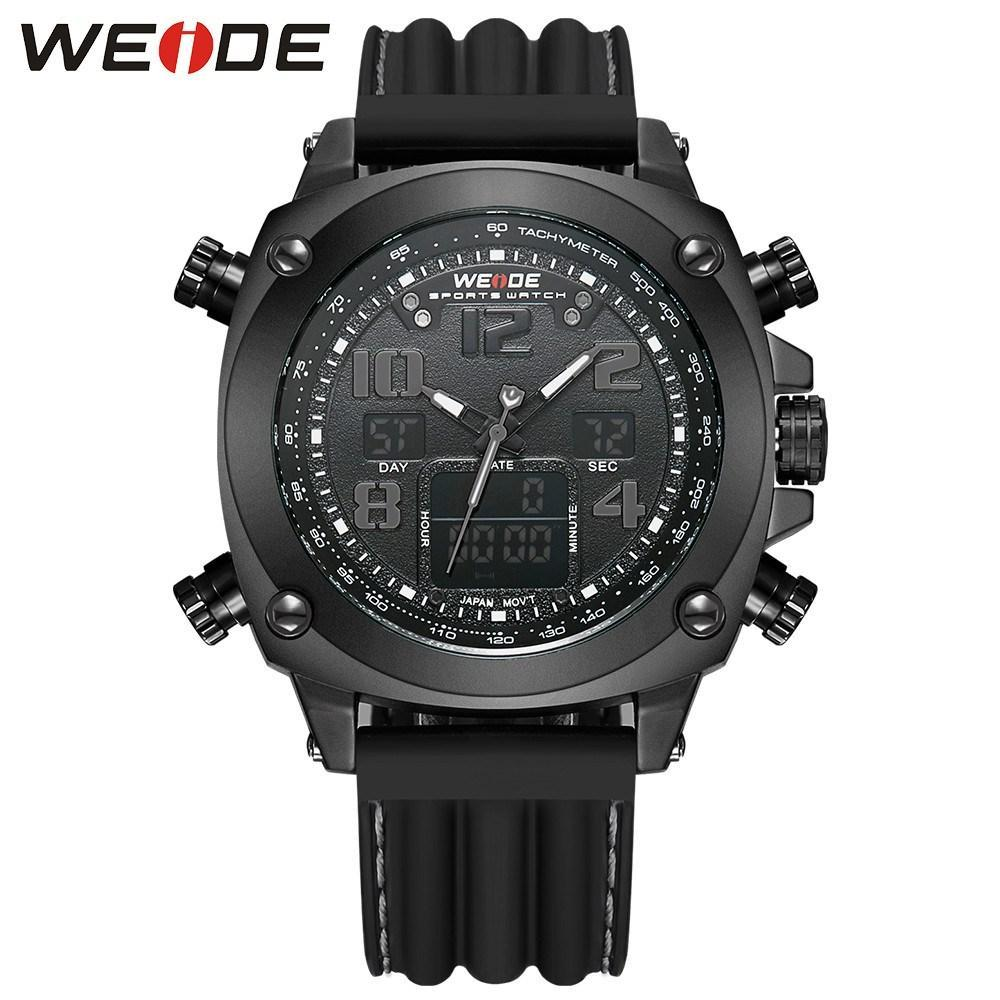 Watches - Weide Analog And LCD Digital Display Silicon Strap Watch For  Men - WH5208B-1C-GRAY INDEX