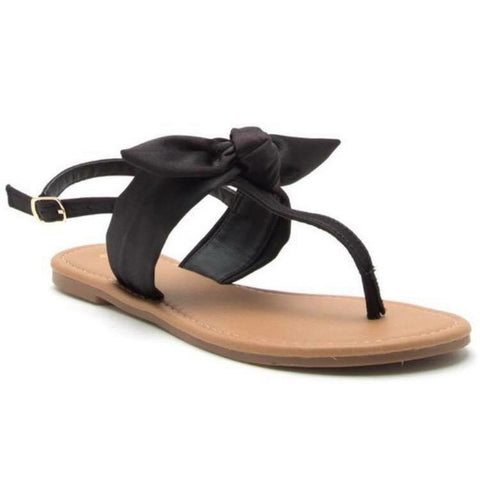 FINAL SALE Black Bow Sandals