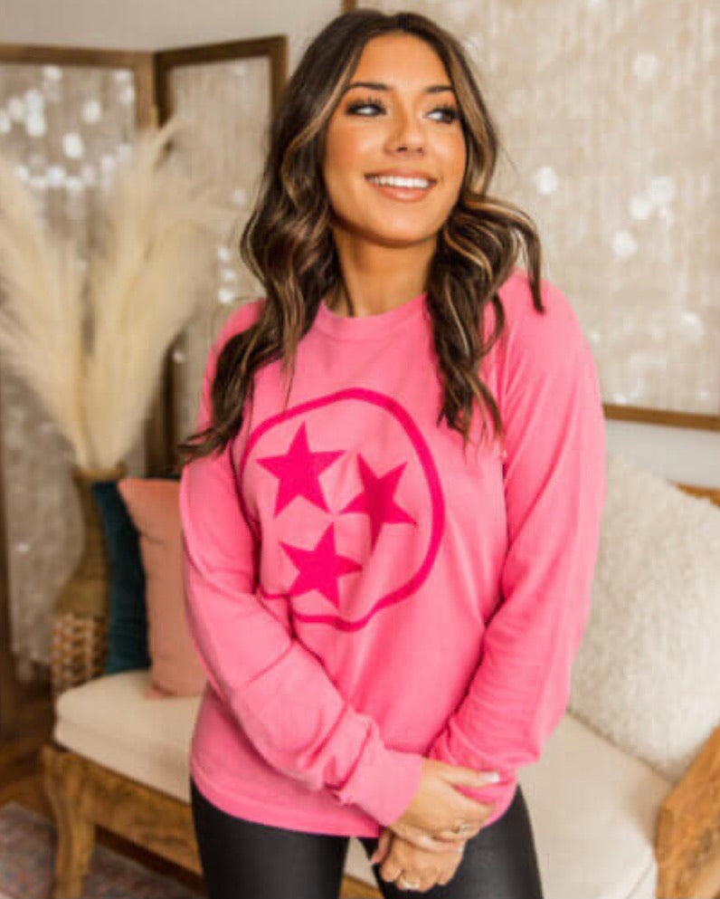 Pink Tristar Long Sleeve Tee