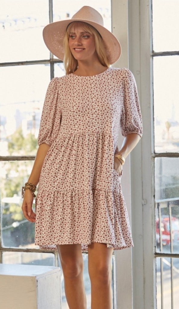 Sage Striped Pocket Dress