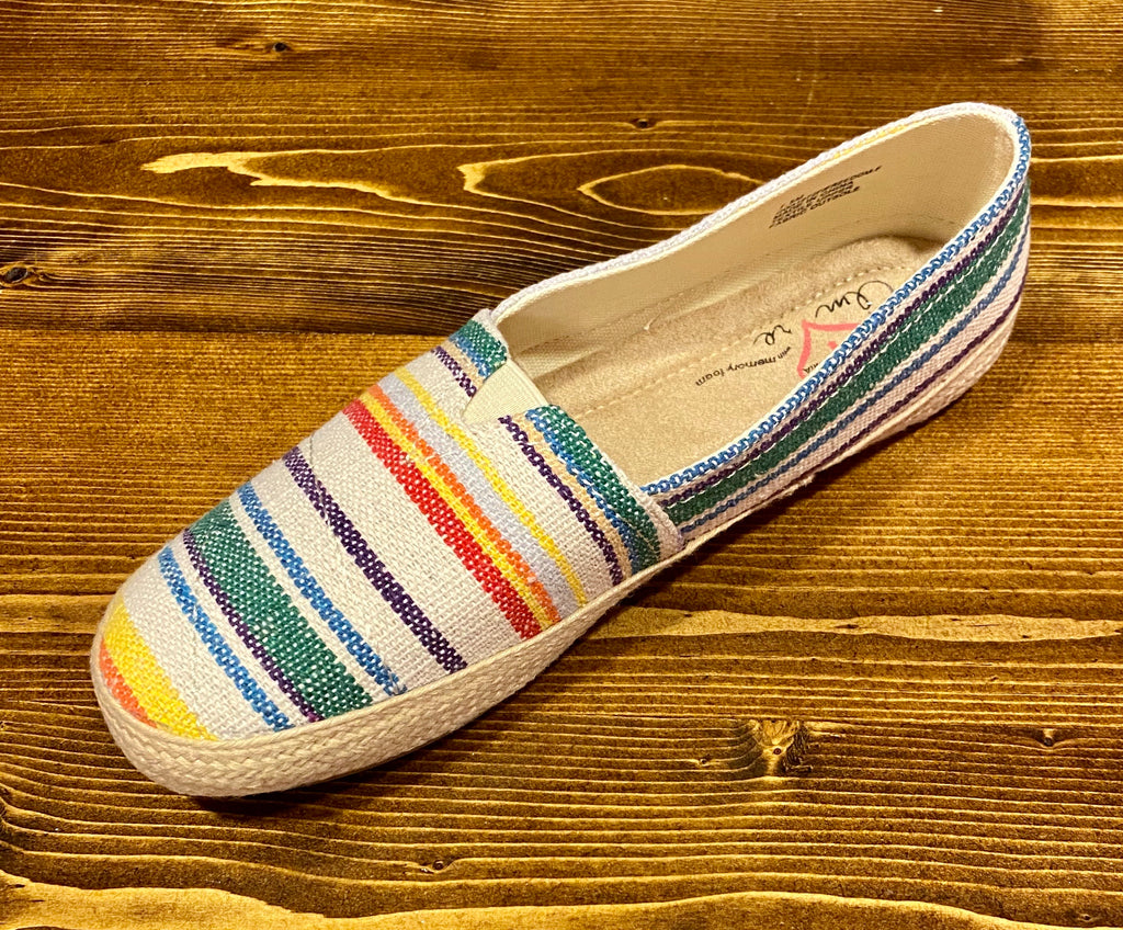 Natural Striped Slip On Shoe ASHE