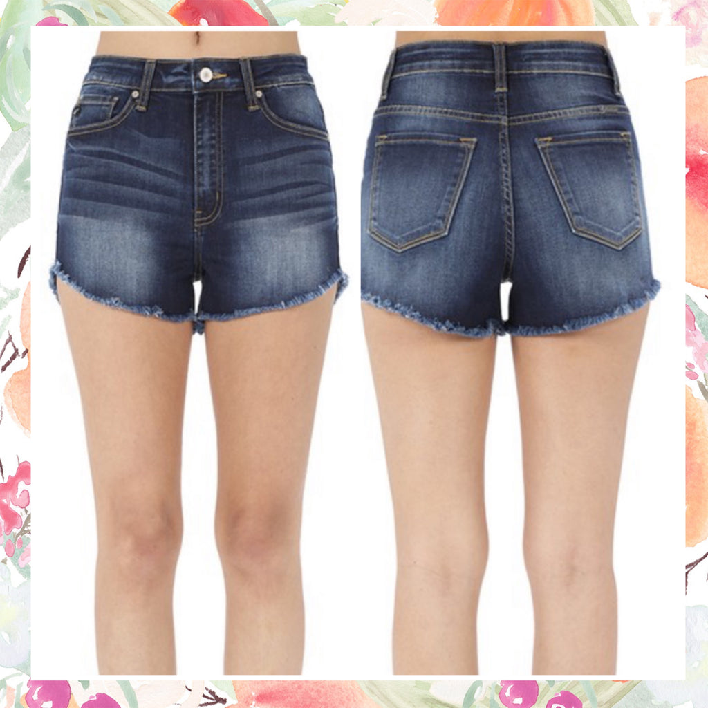 KanCan Frayed Denim Shorts