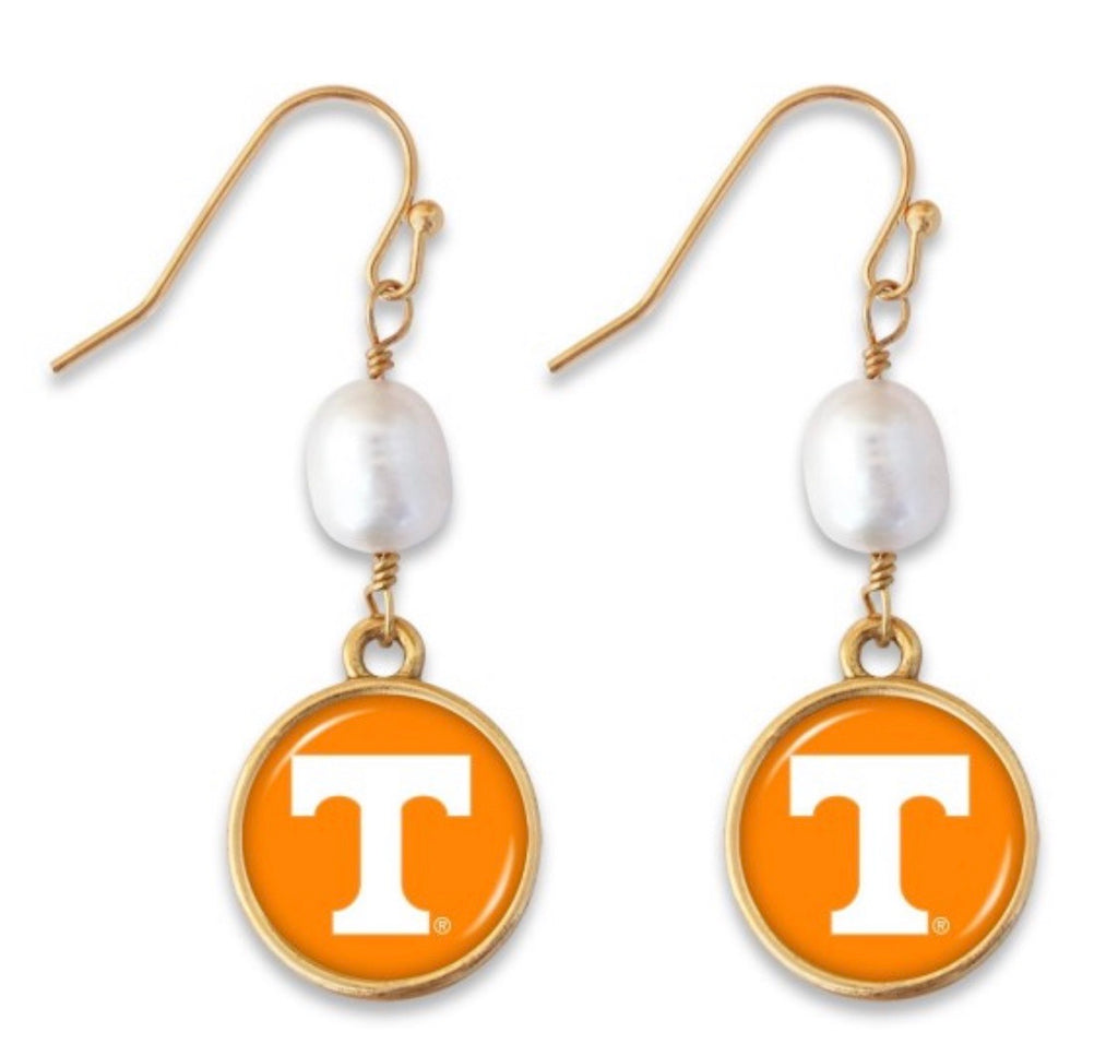 Power T Pearl Earrings