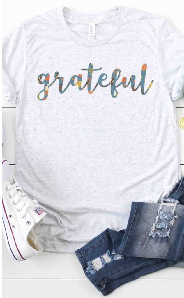 Gray Grateful Multi Color Tee ASHE