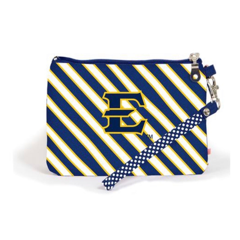 Bucs Striped Wristlet