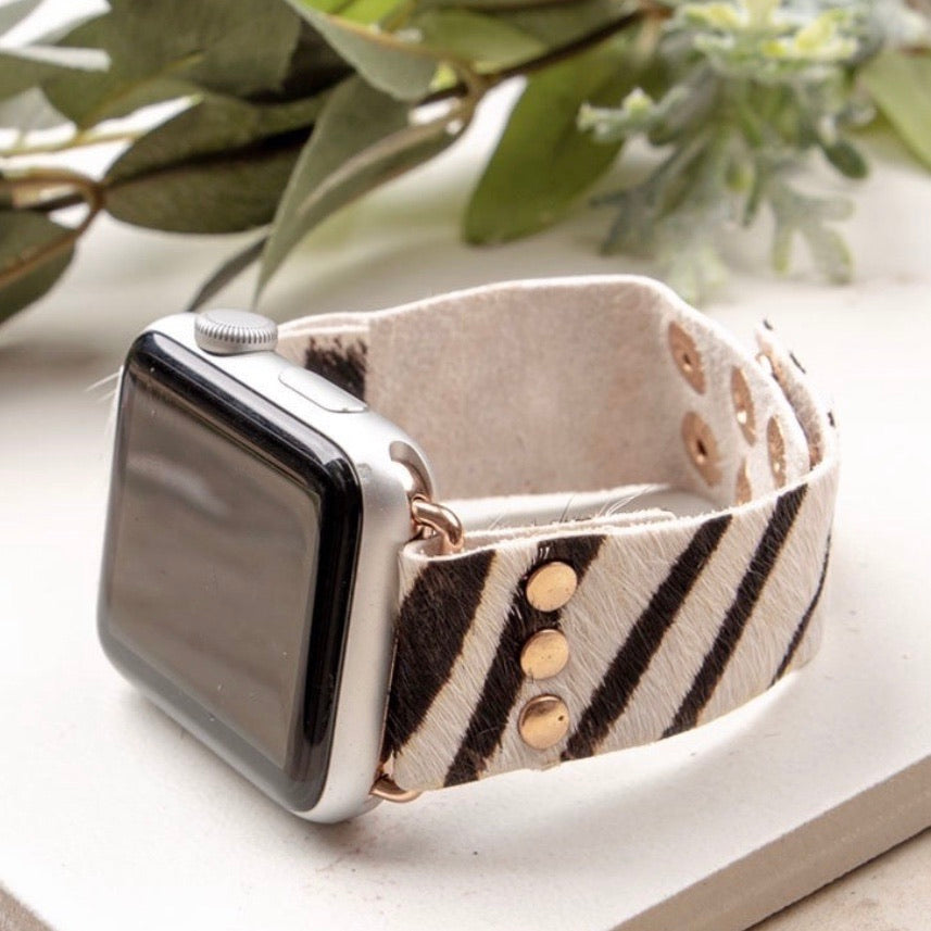Ivory Animal Print Apple Watch Band (Fits 38-42) KNOX