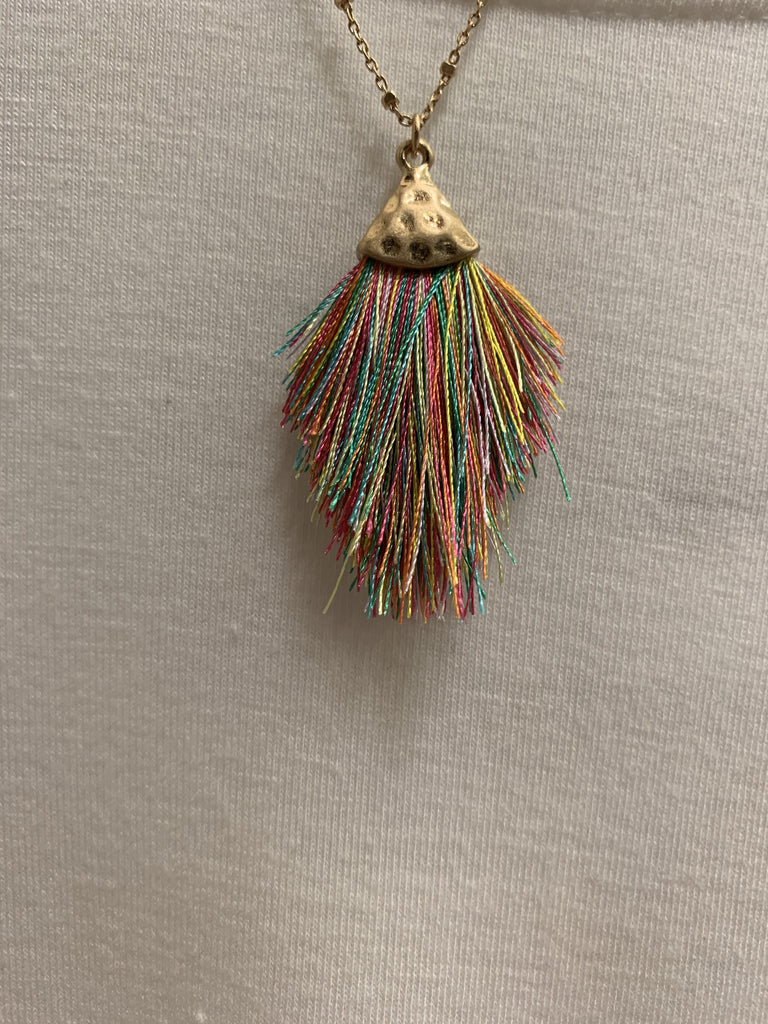 Neon Tassel Necklace KNOX