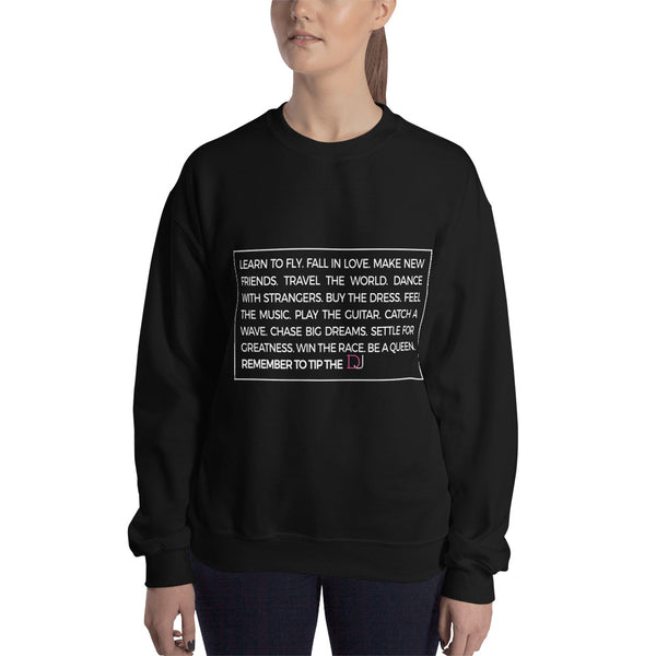WORDS TO LIVE BY SWEATSHIRT