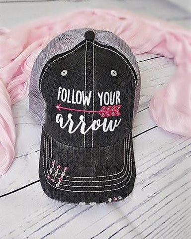 bf8b6066ba8 Ladies Distressed Trucker Hat