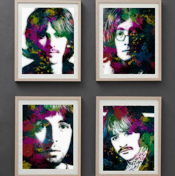 John Lennon Beatles Wall Art, Artwork, Poster, Painting