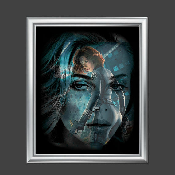 Scarlett Johansson Black Widow Avengers Wall Art  Lisa Jaye Art