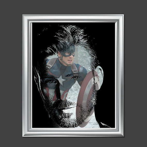 Chris Evans Captain America Avengers Wall Art