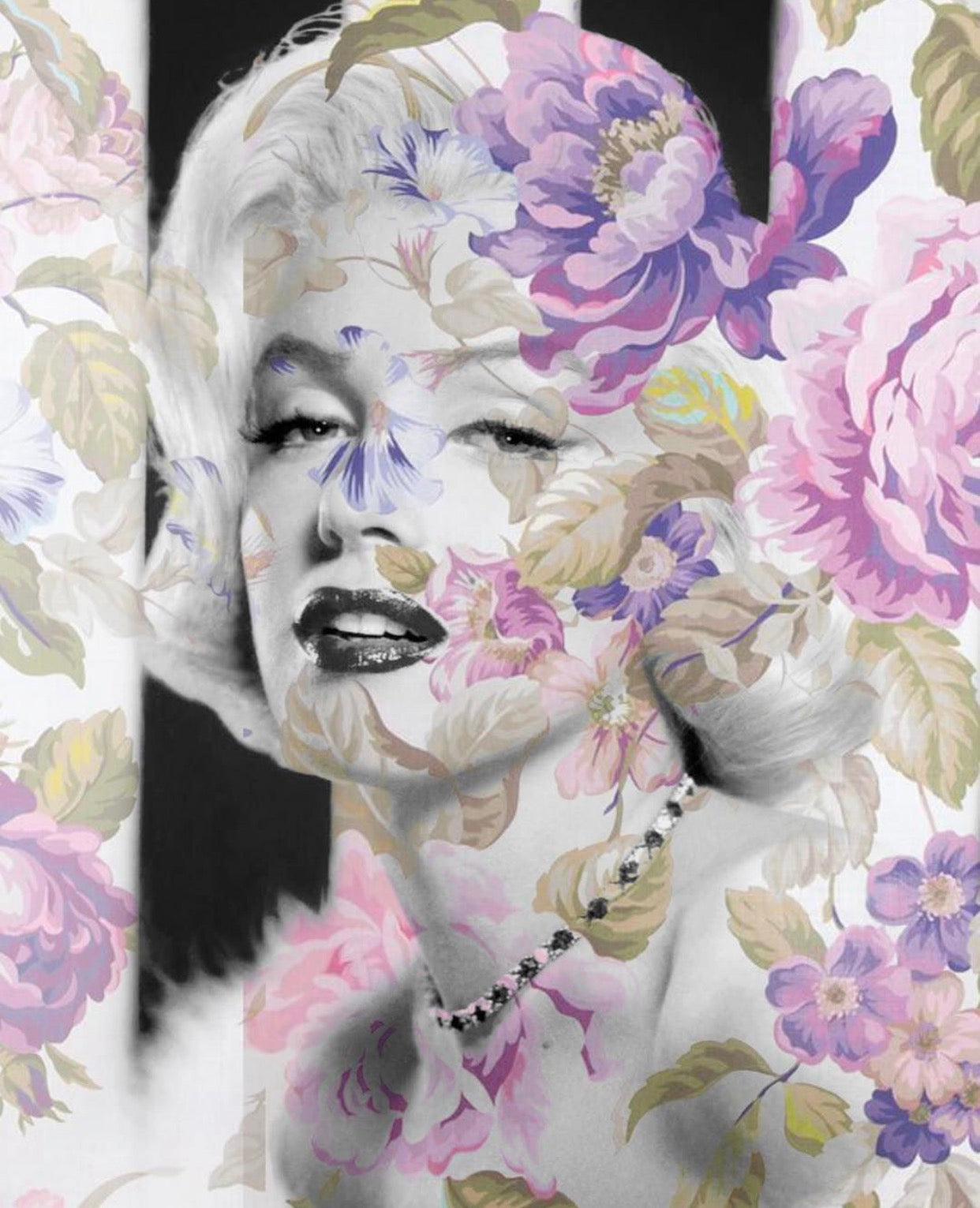 Marilyn Monroe Floral Wall Art  | Lisa Jaye Art Designs
