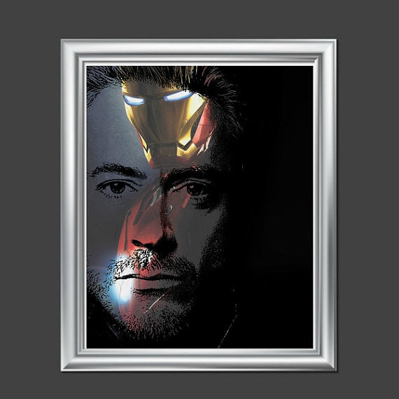 Robert Downey Jr. Iron Man Avengers Wall Art  | Lisa Jaye Art Designs
