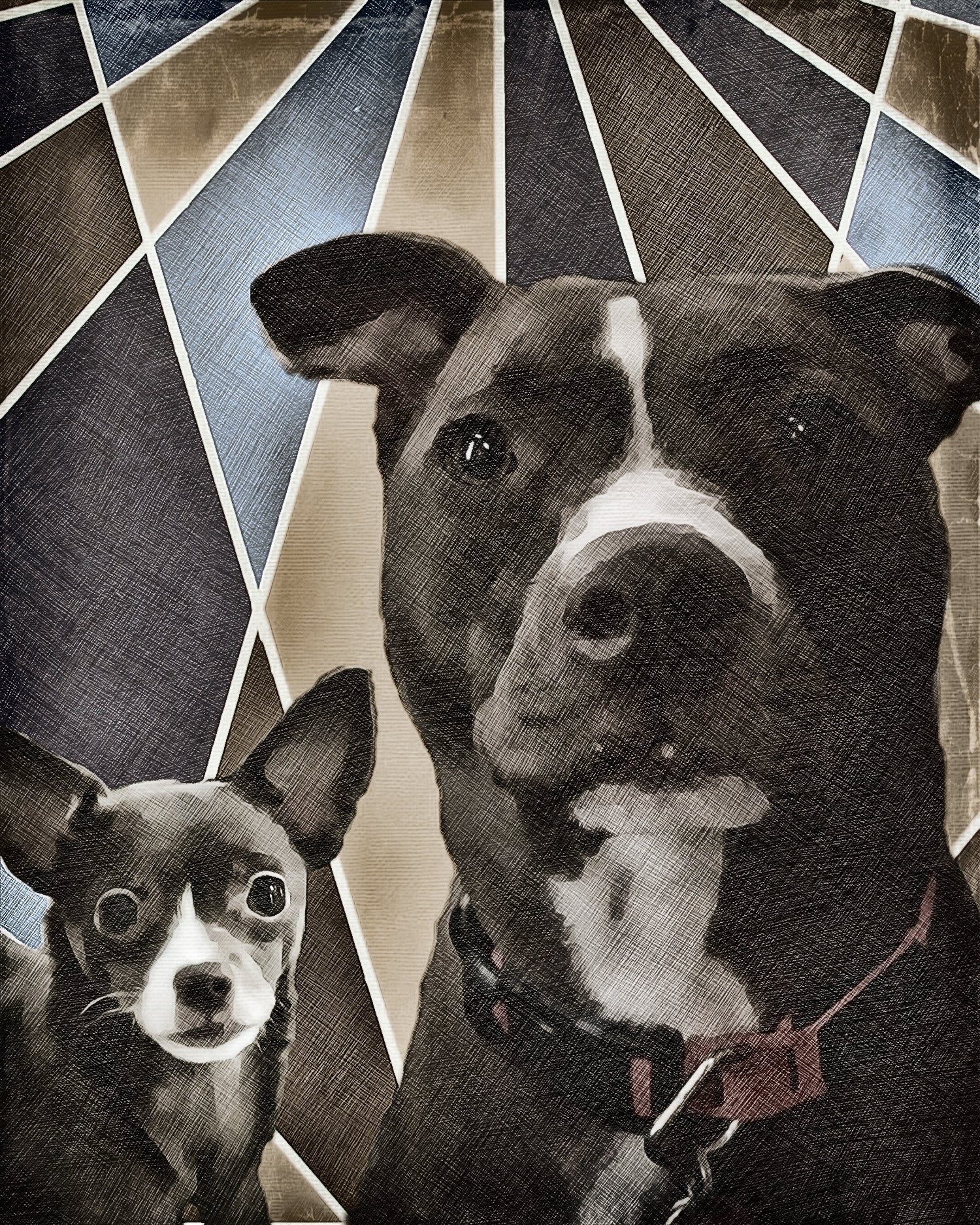 Custom Pet Art - Art Deco Style