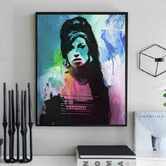 Amy Winehouse Wall Art, Artwork, Canvas
