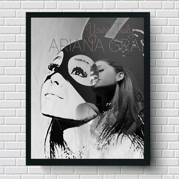 Ariana Grande Art Print, Wall Art, Poster, Artwork, Canvas