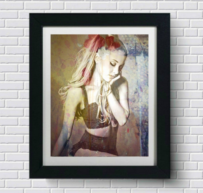 Ariana Grande Wall Art Artwork Canvas Poster Art Print