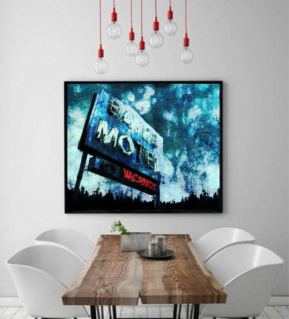 Bates Motel Psycho Wall Art, Artwork, Painting